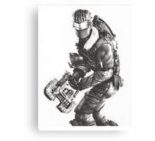 Dead Space 3 Arctic Survival Sketch Canvas Print