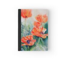 Popping Poppies Hardcover Journal