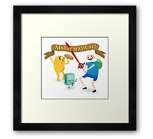 Mathematical Adventure Time! Framed Print