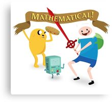 Mathematical Adventure Time! Canvas Print