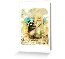 Panda and Snowdrop Greeting Card