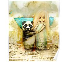 Panda and Snowdrop Poster