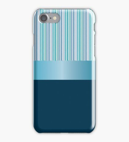 Design tape triangles with blue ribbon. iPhone Case/Skin