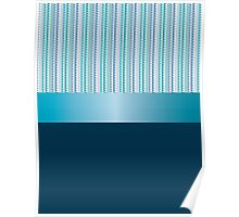 Design tape triangles with blue ribbon. Poster