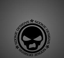 Sookie Designs Sneer Skull Logo Black  by Sookiesooker