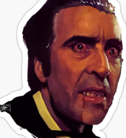 christopher lee as dracula Sticker