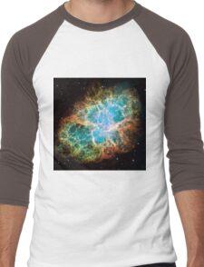 Galaxy Crab Men's Baseball ¾ T-Shirt
