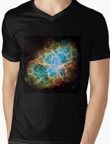 Galaxy Crab Mens V-Neck T-Shirt