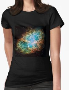 Galaxy Crab Womens Fitted T-Shirt