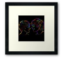 Fall in love with their eyes. 2011 Framed Print