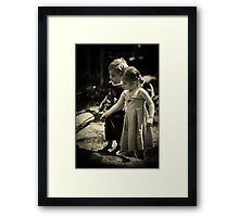 A magic world Framed Print
