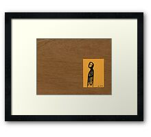 Tiny Diary: Away ... Now Framed Print