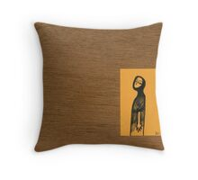 Tiny Diary: Away ... Now Throw Pillow