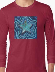 Turquoise Stars Long Sleeve T-Shirt