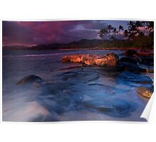 Beach scene Kauai Poster