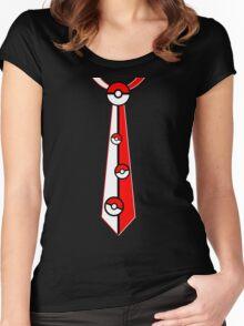 Pokeballs Tie Tee Women's Fitted Scoop T-Shirt