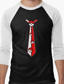 Pokeballs Tie Tee Men's Baseball ¾ T-Shirt