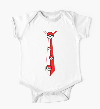 Pokeballs Tie Tee One Piece - Short Sleeve