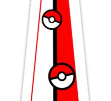Pokeballs Tie Tee Sticker