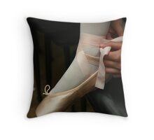 The Ballet Shoe Throw Pillow