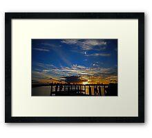 Marina Sunset, Forster Framed Print