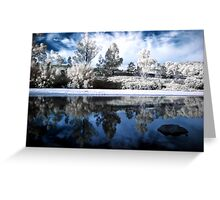 Infrared Mirror Greeting Card