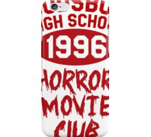 Woodsboro High Horror Movie Club 1996 iPhone Case/Skin
