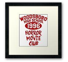 Woodsboro High Horror Movie Club 1996 Framed Print