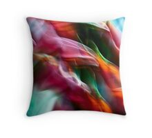 Heliconia swirls #02 Throw Pillow