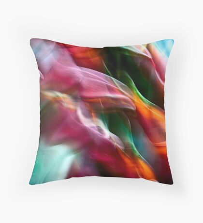 Heliconia swirls #02 Throw Pillow