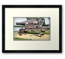 Fortress Gun -1867 - The Strand, Williamstown, Vic Framed Print