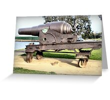 Fortress Gun -1867 - The Strand, Williamstown, Vic Greeting Card