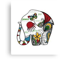 Peace Elephant Canvas Print