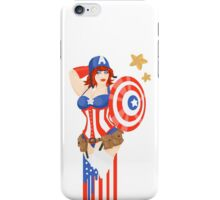 Captain America Pinup iPhone Case/Skin