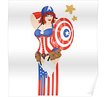 Captain America Pinup Poster