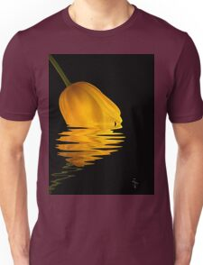 Dipping Reflections - Yellow Tulip Unisex T-Shirt