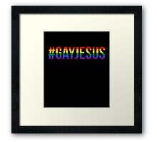 #GAYJESUS Framed Print