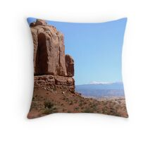 Mountain Contrast Throw Pillow