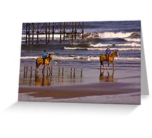 Beach Ride - Saltburn Greeting Card