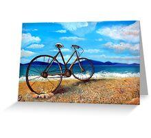 Old Bike at the beach Greeting Card