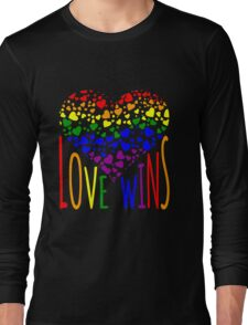 Love Wins, Marriage Equality T-Shirt design. Long Sleeve T-Shirt
