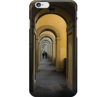 In a Distance - Vasari Corridor in Florence, Italy  iPhone Case/Skin