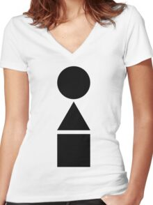 bauhaus Women's Fitted V-Neck T-Shirt
