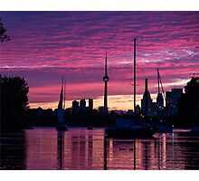 Toronto Skyline - the Boats Are Coming In Photographic Print