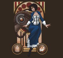 Bioshock Infinite - Elizabeth and Songbird Nouveau by Maggie Davidson
