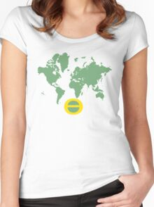 one world earthday Women's Fitted Scoop T-Shirt