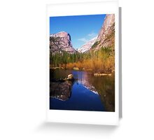Yosemite Reflecting The Spring Greeting Card