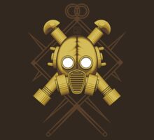 Tribal Gold Gasmask by Rustyoldtown
