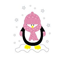 Baby It's Cold Outside [Girl Penguin] Photographic Print