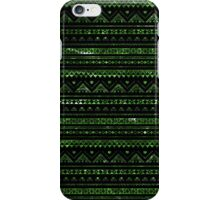 Aztec Black Tinsel Green iPhone Case/Skin